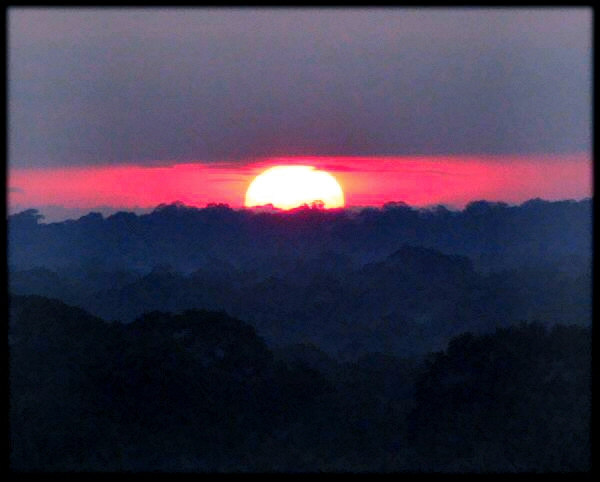 sunrise peru jungle